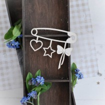 Chipboard - Safety pin banner