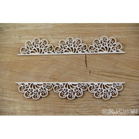 Chipboard- Lace borders A
