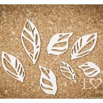 Chipboard - Leaves set 7pcs