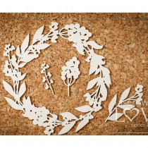 Chipboard - Wreath with...