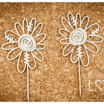 Chipboard - Fancy flowers 2pcs