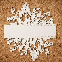 Chipboard - Flowers with a...