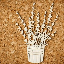 Chipboard - Lavender flower...