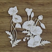 Chipboard - Poppies and...