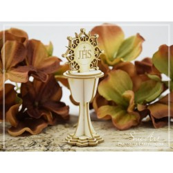 Chipboard - Chalice with the Ornamental Host  3D