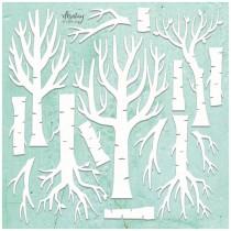 Maxi Chipboard - TREES 14 pcs