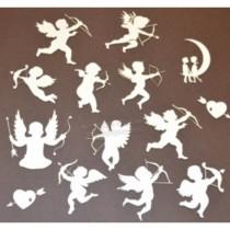 Chipboard - Cupids 14pcs