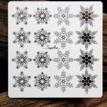 Chipboard - Snowflakes -16pcs