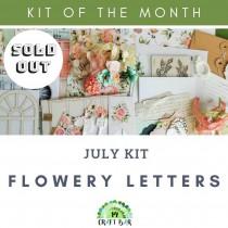 JULY KIT - Flowery Letters