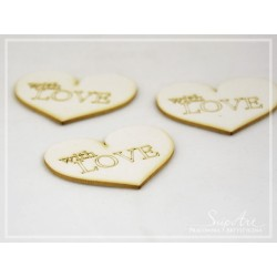 "Chipboard -Hearts""with love"" /3pcs"