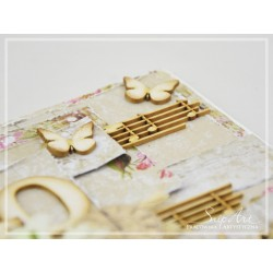 Chipboard- Background  Musical Notes 30cm