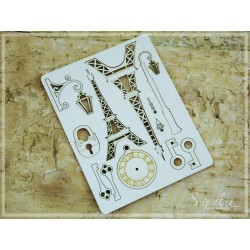 "Chipboard- Set ""Paris"""