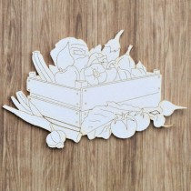 Chipboard -  BOX OF VEGETABLES