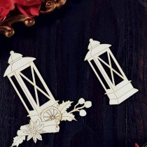 Chipboard - Christmas lanterns