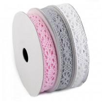 Cotton Lace - MIX - white +...
