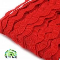 Ric Rac Trim Ribbon - RED