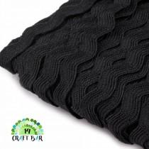 Ric Rac Trim Ribbon - BLACK