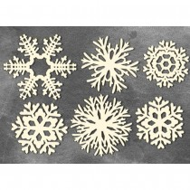Chipboard - SNOWFLAKES 02