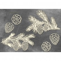 Chipboard - TWIGS WITH PINE...