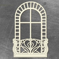 Chipboard - ARCHED WINDOW