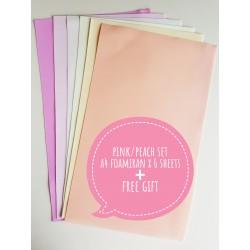 Foamiran A4 Set - Pink/Peach