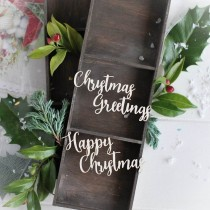 Chipboard - HAPPY CHRISTMAS...