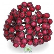 Burgundy Berries -snowy