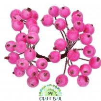 Dark Pink Berries - snowy