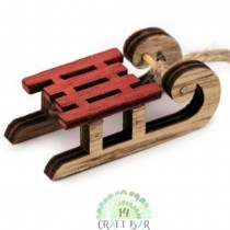 Wooden Embellishments - RED...