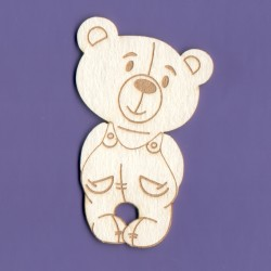 Chipboard -Teddy Bear/Boy