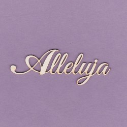 Chipboard - Alleluja/2pcs