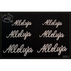 Chipboard - Alleluja/6pcs