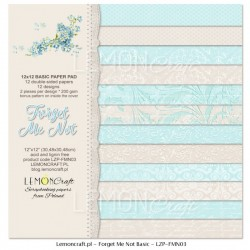Scrapbooking Papers- Forget me not Basic (12x12)