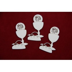 Chipboard - Chalice - Rosary and Bread/9pcs