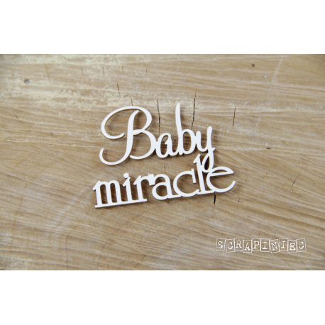Chipboard -  Baby Miracle