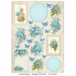Scrapbooking Paper- Die Cut A4 Sheet 004
