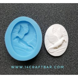 Silicone Mold - Pigeon Cameo