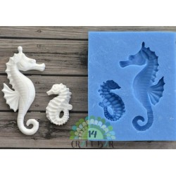 Silicone Mold - Pair of Seahorses