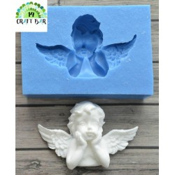 Silicone Mold - Thoughtful Angel/Cherub