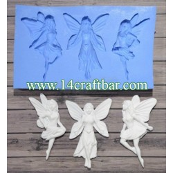 Silicone Mold - Three Fairies