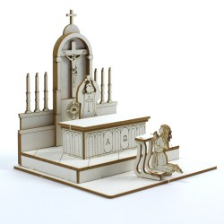 Chipboard - The Altar with Communion Child 3D