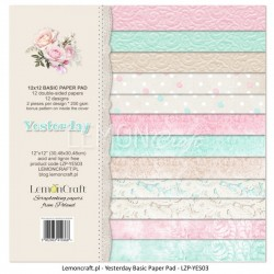 Scrapbooking Papers - Yesterday Basic (12x12)