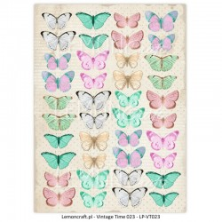 Scrapbooking Paper- Die Cut A4 Sheet   Butterflies 02