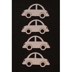 Chipboard -Small Cars /4pcs