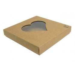 Box 15X15 with HEART window - ECO
