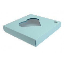 Box 15X15 with HEART window - SKY BLUE
