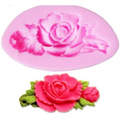Silicone Mold - Rose with a rose bud