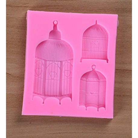 Silicone Mold - Bird Cages x 3