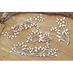 Chipboard -Lilly of the valley/set of 4