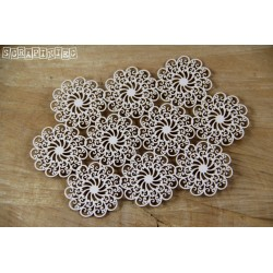 Chipboard- Doily Lace - 10 Small rosettes